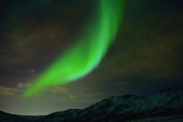 Aurora borealis über Tromsö