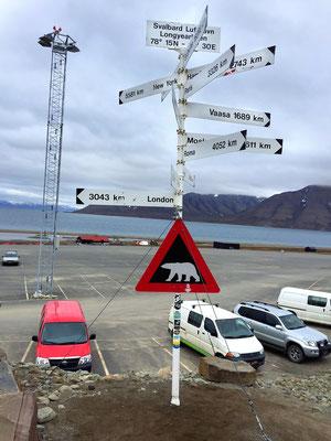 Ankunft Spitzbergen Longyearbyen, 1. Juli 2015