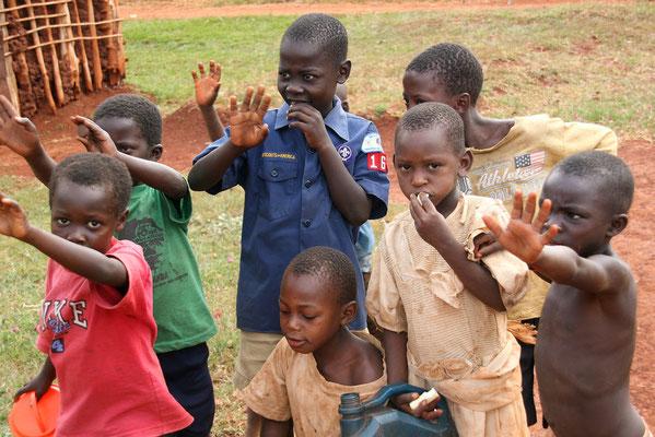 Schüler in Jinja, Uganda