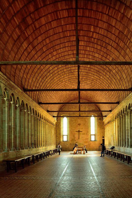 Le Mont-Saint-Michel (F), Département Manche, Basse-Normandie, Speisesaal der Benediktiner-Abtei