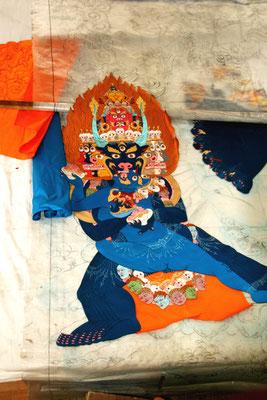 Mandalakunst in der Entstehung