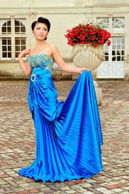 Schloss Villandry als Kulisse für Modefotografie