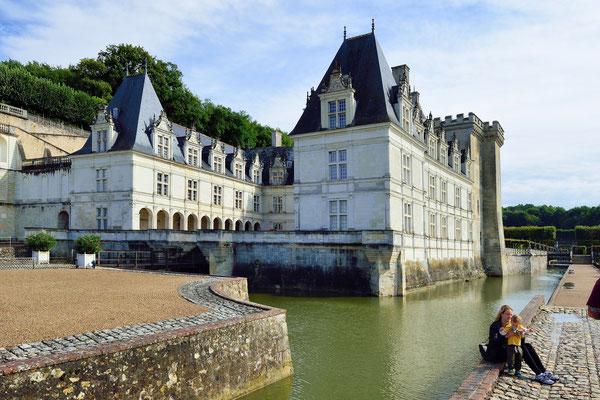 Schloss Villandry, 15 km nahe Tours, vor dem Zufluss der Cher in die Loire