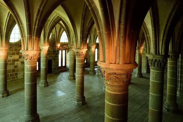 Le Mont-Saint-Michel (F), Département Manche, Basse-Normandie; Gewölbe der Beneddiktiner-Abtei
