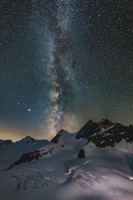 Milchstrasse ab Jungfraujoch Richtung Jungfrau; 19.7.2020