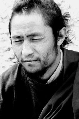 Mönch im Kloster Lamayuru, Ladakh (Kaschmir)