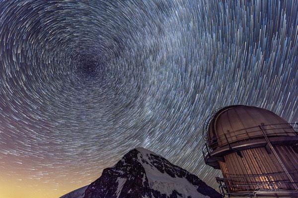 Sternenbahnen auf Sphinx, Jungfraujoch; 19.7.2020