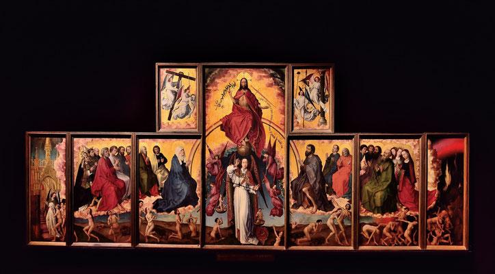Das Jüngste Gericht - Flügelaltar des niederländischen Malers Rogier van der Weyden (1399-1464); um 1440, Hotel-Dieu; Beaune