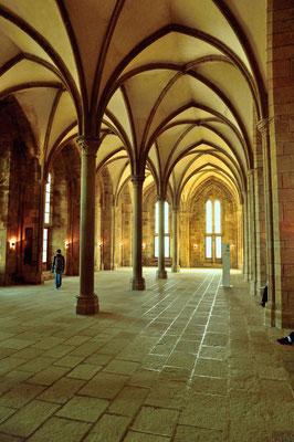 Le Mont-Saint-Michel (F), Département Manche, Basse-Normandie; Wandelhalle der Benediktiner-Abtei