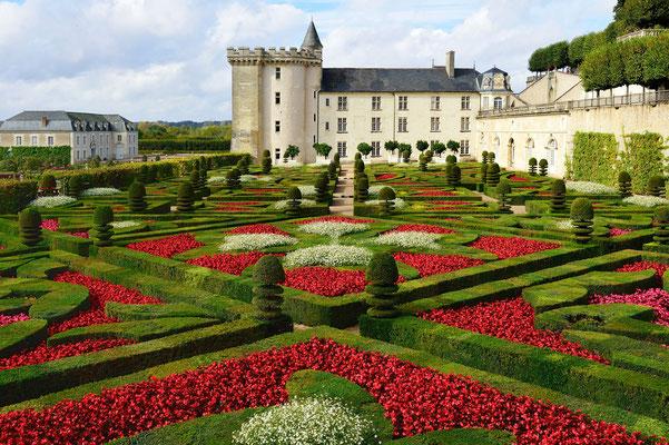 Gärten des Schloss Villandry; Cher/Loire, France