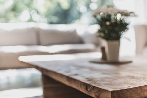 Nahaufnahme Designer Tisch