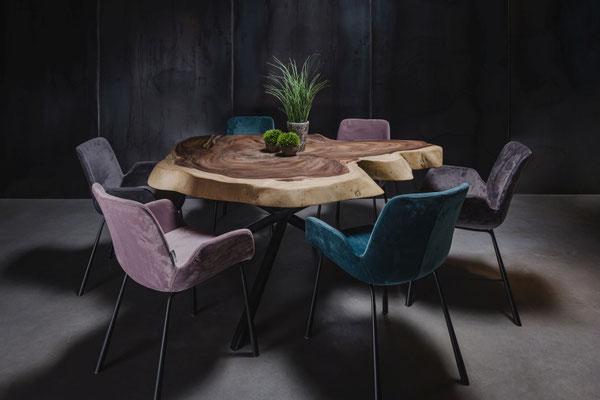 Luxus trifft nachhaltiges Holz und gibt deinem Wohnzimmer ein edles, natürliches und individuelles Ambiente