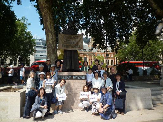7.21 英国議会前広場のフォーセット像