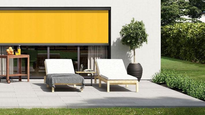 Senkrechtmarkise, Vertikalmarkise, Screens, Storen, Fenstermarkise, Fassadenmarkise, markilux