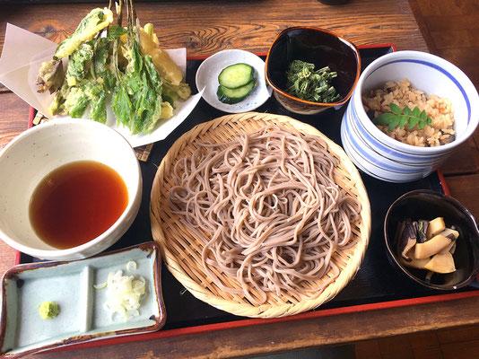 <春限定>山菜天ぷら+もりそばセット