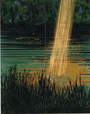 「光のハーモニーⅡ」 第39回日展 入選 168×130cm 2007  個人蔵