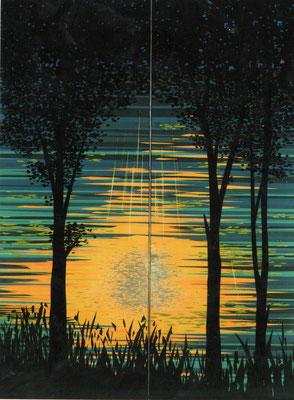 「森の光景」 第40回日展 入選 151×111cm 2008 個人蔵