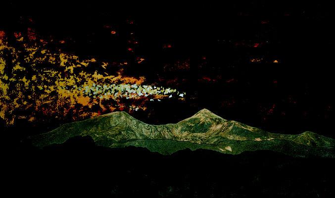 『黎明・磐梯山』 第59回日本現代工芸美術展 M100号 2021 4