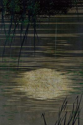 「慈 雨」 第43回日展 入選  181×121cm 2011 個人蔵