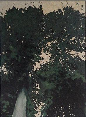 「鎮守の杜・箱根」 第24回漆の美展 F60  2017