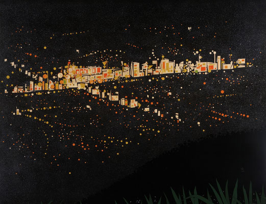 「MY TOWN] 第37回日展 入選  F80  2005