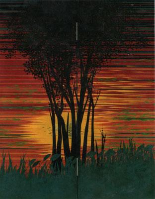 「夕 彩」 第41回日展 入選 168×130cm 2009 個人蔵