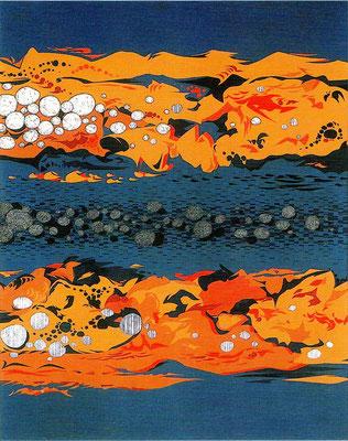 『日溜まり』 第10回ふるさとの風景展 F30号 奨励賞 2004 喜多方高等学校