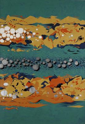「日溜まり」 第12回河北工芸展 仙台市教育委員会賞 P100号 2003