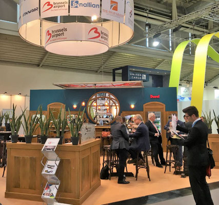 Brussels Airport booth shortly before ACE opened ist doors for visitors