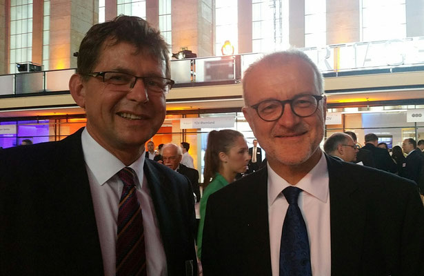 BARIG Manager Michael Hoppe (left) and Winfried Hartmann, Fraport