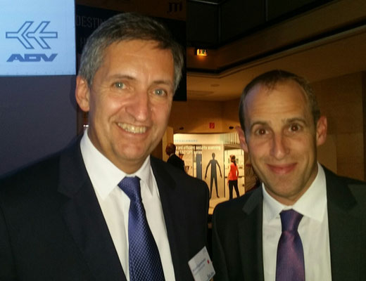 Airport Chiefs enjoying the event: Michael Eggenschwiler of Hamburg (left) and Zurich CEO Stephan Widrig