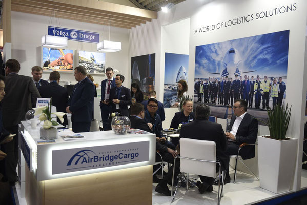 Volga-Dnepr / AirBridgeCargo were happy about the large number of visitors and suppliers  -  photo: Anna Loginova