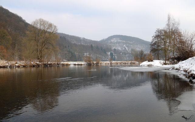 Flusslandschaft / Sieg