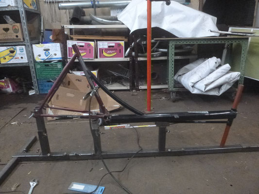 welding the 2 frames together