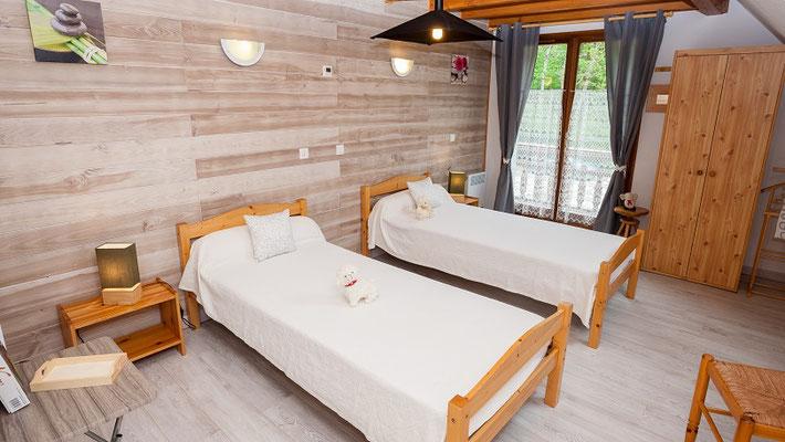 Chambre 2 lits 90 x 200
