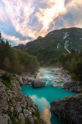 Soča valley sunset