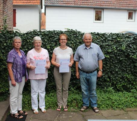 v.l.n.r. Adelheid Dilling, Elke Wiederhold, Karin Bonnet und Dr. Walter Vogt
