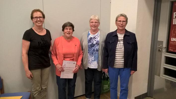 v.l.n.r. Karin Bonnet, Christa Bötte, Elke Wiederhold und Adelheid Dilling