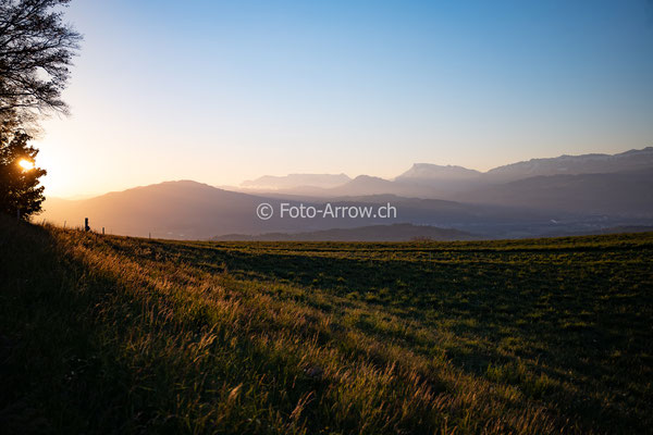 Morgensonne mit Blick Richtung Emmental