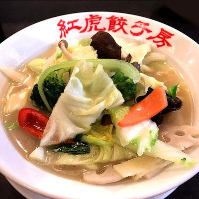 紅虎餃子房の野菜タンメン