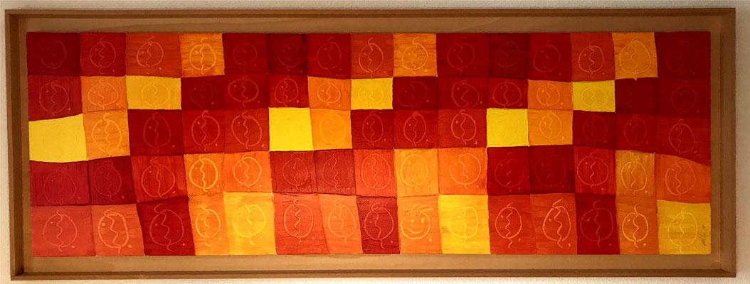 74 Zigarren und ein bisschen Glück, Acryl auf Leinwand, gerahmt 160x60 cm, 2006
