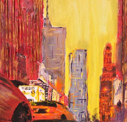 NYC-Studie2,  Acryl auf Leinwand, 30x30 cm, 20112