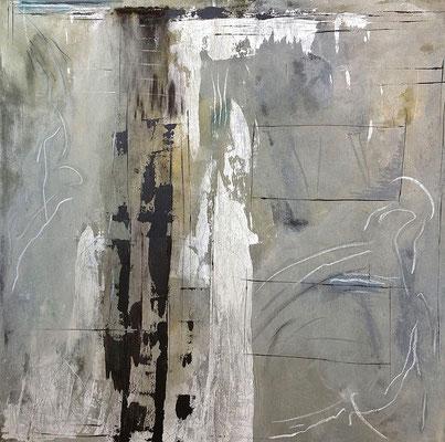 Gebt dem Bischof, was des Bischofs ist, Acryl auf Leinwand, 120x120 cm, 2013