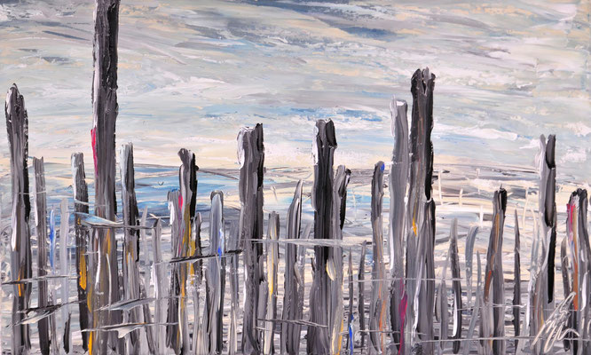 Arcachon, Acryl auf Leinwand, 40x80 cm, 2011