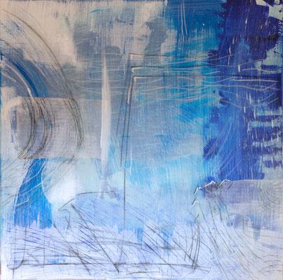 Le Grand Bleu, Acryl auf Leinwand, 120x120 cm, 2013