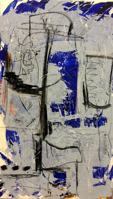 Hüteständer, Acryl auf Leinwand, 60x100 cm, 2015