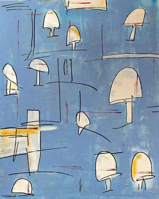 Pilzbefall, Acryl auf Leinwand, 60x80 cm, 2013
