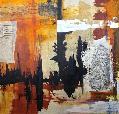 Engelwirbel, Acryl auf Leinwand, 120x120 cm, 2013