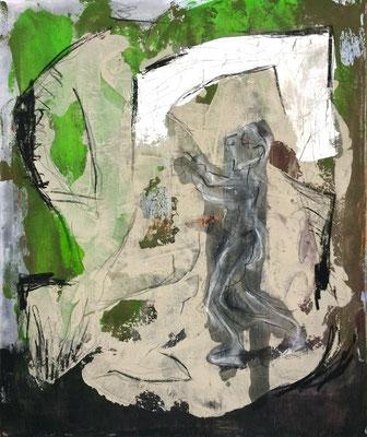 Der Schlafwandler, Acryl und Kreide auf Leinwand, 100x120 cm, 2015