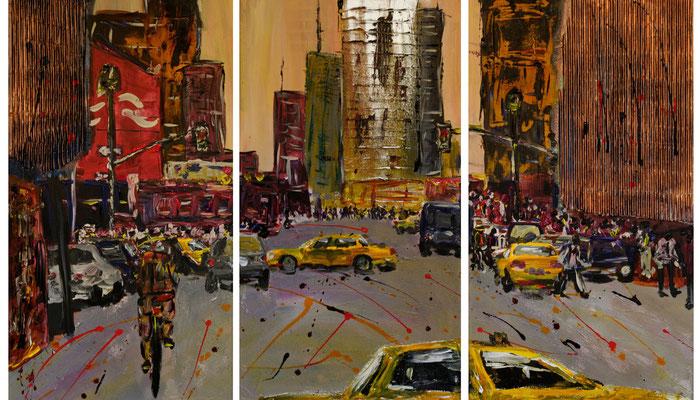 NYC-Tript11, Acryl auf Leinwand, 120x80 cm, 2011